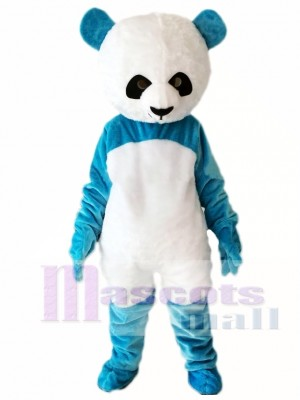Blue Panda Mascot Costume Christmas