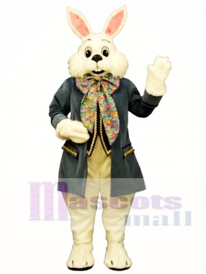 Wendell Blue Rabbit Easter Bunny Mascot Costume