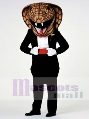 Gentleman Cobra Snake Mascot Costume
