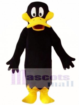 Black Cartoon Daffy Duck Mascot Costume