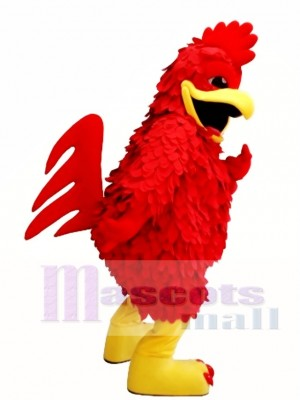 Red Chicken Mascot Costume