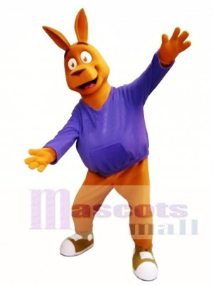 Friendly Kangaroo Mascot Costume
