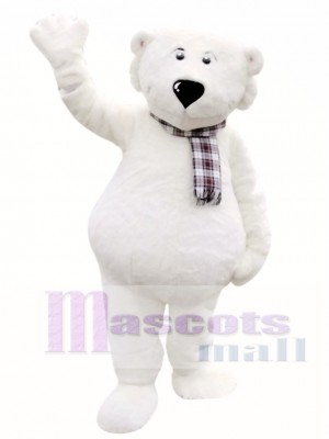 Cute White Polar Bear Mascot Costumes