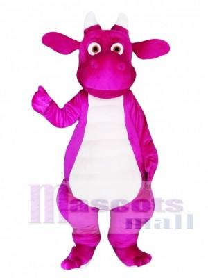 Purple Adult Dragon Mascot Costume