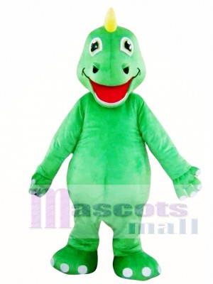 Green Adult Dinosaur Mascot Costumes