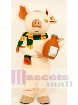 The Loveable Pig Mascot Costume