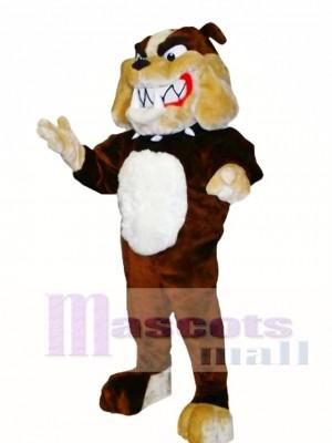 Brown Bulldog Mascot Costume