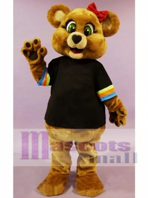 Cute Female Brown Bear Mascot Costume