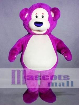Purple Bear Mascot Costume