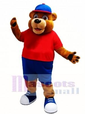Happy Brown Animal Bear Mascot Costume