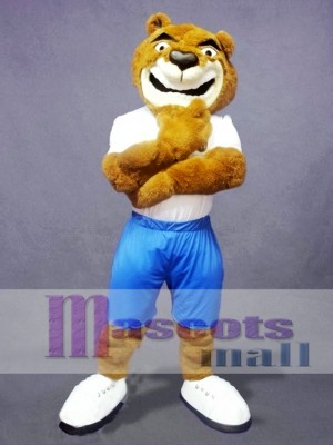 Confident Bear Mascot Costume
