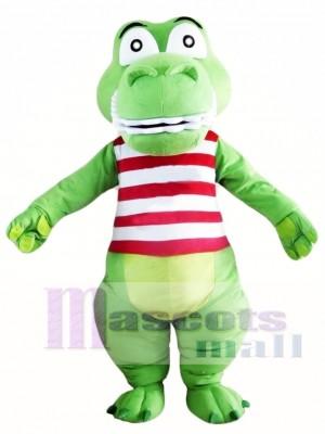 Green Cute Crocodile Mascot Costume Alligator Costume for Adult
