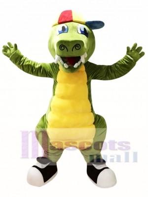 Green Crocodile Mascot Costume Alligator Costume for Adult