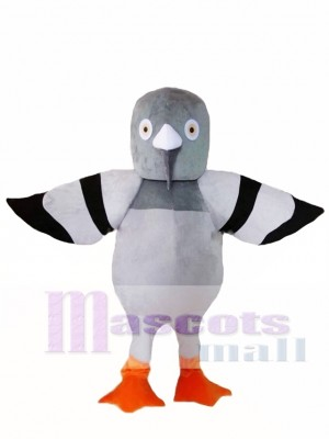 Cartoon Grey Pigeon Mascot Costume
