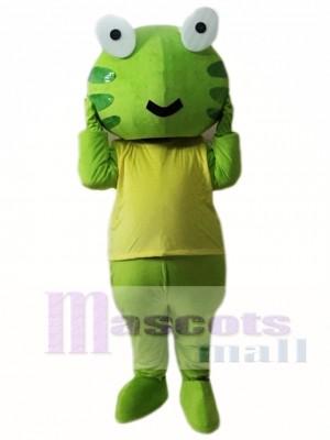 Green Frog Mascot Costume