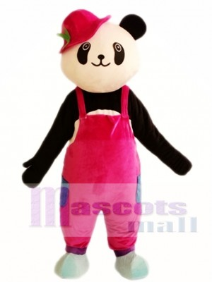 Cute Panda Red Hat Mascot Costumes