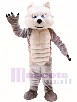 Grey Power Wolf Mascot Costume