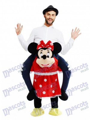 Piggyback Minnie Mouse Carry Me Ride Mouse Mascot Costume