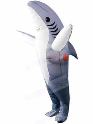 Gray Shark Inflatable Halloween Xmas Blow Up Costumes for Adults