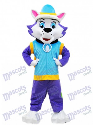 Husky Dog Everest Mascot Paw Patrol Snowy Mountain Pup Cartoon Costume