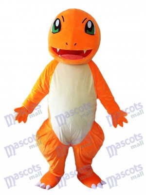 Charmander Dragon Pokemon Pokémon Go Mascot Costume with Green Eyes