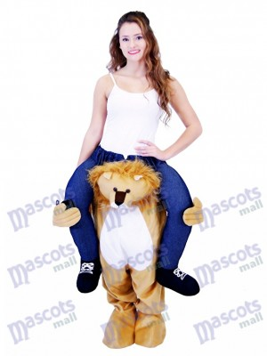 Piggyback Lion Carry Me Ride on Lion Mascot Costume