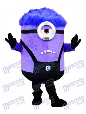 Crazy Me MINIONS Despicable Me Purple Minions Mascot Costume