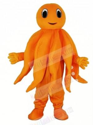 Orange Octopus Plush Adult Mascot Costume Cartoon