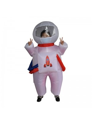 Cute Astronaut Spaceman Inflatable Costume Blow up Bodysuit for Kid