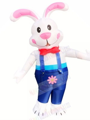 Inflatable Rabbit Easter Bunny with Long Ears Mascot Costume