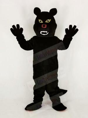 Fierce Black Wolf Mascot Costume Cartoon