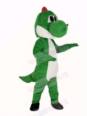 Green Dinosaur Yoshi from Super Mario Mascot Costume Cartoon