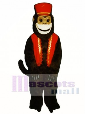 Organ Grinder Monkey with Vest & Hat Mascot Costume Animal