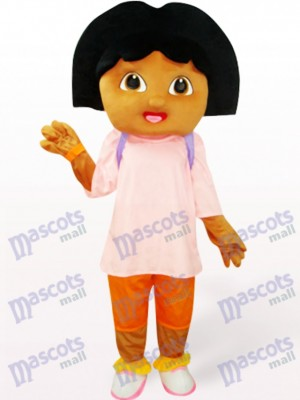 Cute Girl In Pink Anime Mascot Costume