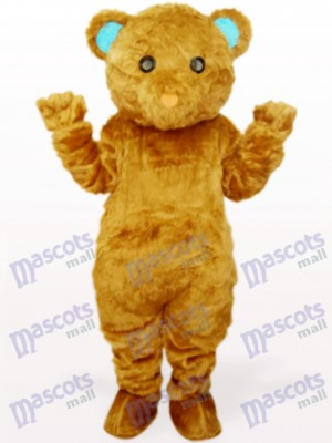 Brown Long Hair Bear Animal Mascot Costume