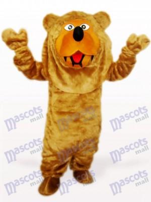 Brown Long Hair Bear Animal Mascot Costume