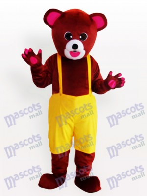 Brown Bear in Biboveralls Funny Mascot Costume