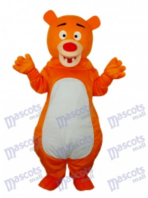Short-haired Orange Bear Mascot Adult Costume Animal
