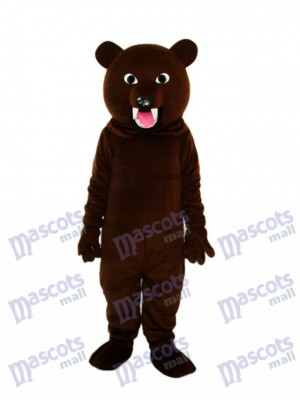 Large Gray Black Bear Tooth Mascot Adult Costume Animal