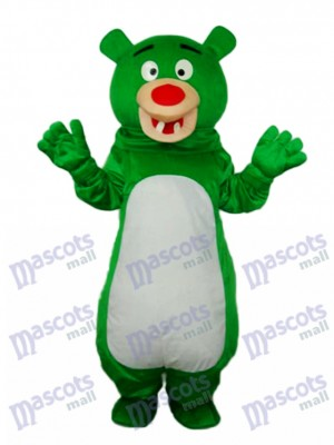 Short-haired Green Bear Mascot Adult Costume Animal