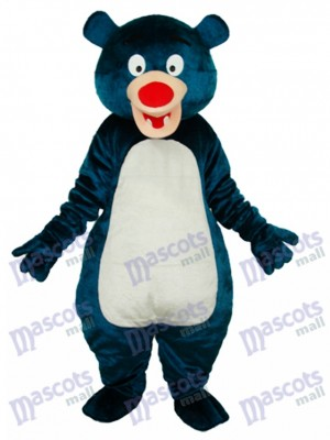 Blue Bear Adult Mascot Costume Animal