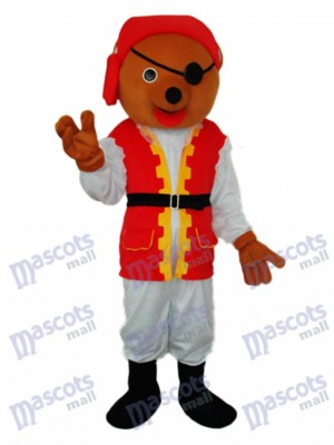 Pirate Bear Mascot Adult Costume Animal