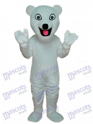 White Polar Bear Mascot Adult Costume Animal