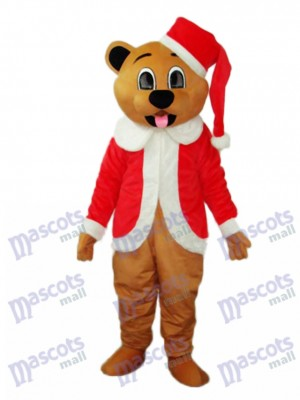 Brown Christmas Bear Mascot Adult Costume Animal
