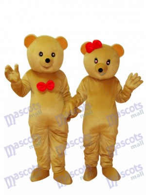 Two Teddy Bears Mascot Adult Costume Animal