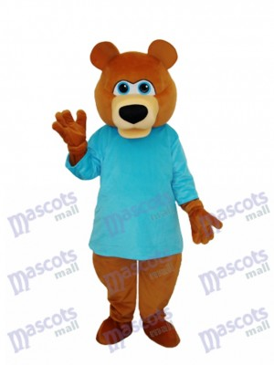 Mr.Bear in Blue T-shirt Mascot Adult Costume Animal