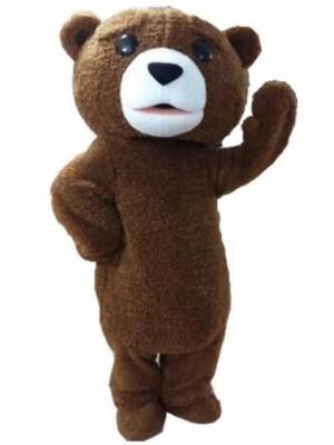 Fur Teddy Bear Mascot Costume