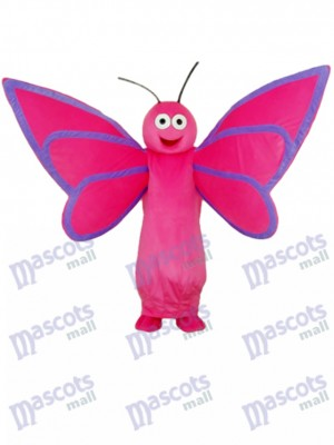 Pink Butterfly Mascot Adult Costume Insect