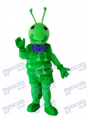 Green Worm Mascot Adult Costume Insect