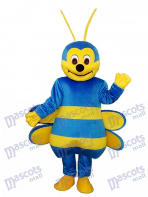 Blue Bee Mascot Adult Costume Insect